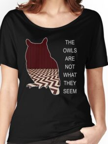 THE OWLS ARE NOT WHAT THE SEEM Women's Relaxed Fit T-Shirt