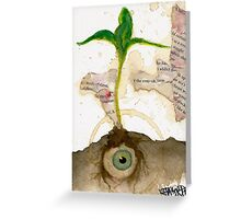 Iris Sprout Greeting Card