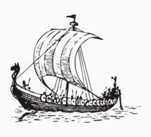 Viking Ship One Piece - Long Sleeve