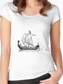 Viking Ship Women's Fitted Scoop T-Shirt