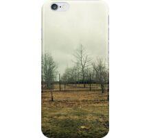 Stark Hamptons Field as Winter Approaches iPhone Case/Skin