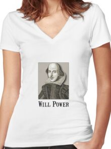 Will Power Women's Fitted V-Neck T-Shirt
