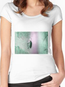 Green Stink Bug Women's Fitted Scoop T-Shirt
