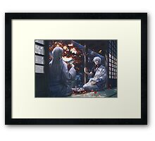 Tea With A Guest - Gintoki Framed Print