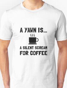 Yawn Coffee Unisex T-Shirt