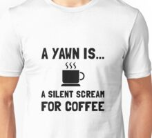 Yawn Coffee Unisex T-Shirt