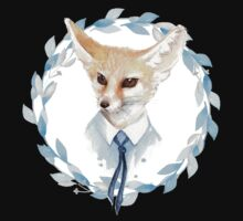 Fox and floral wreath. For cards Kids Tee