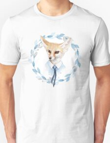 Fox and floral wreath. For cards T-Shirt