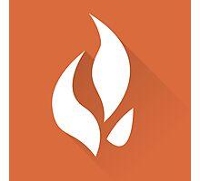 The Orange Flame Photographic Print
