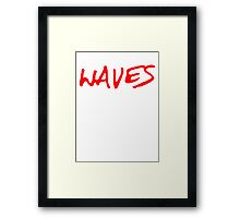 Waves [Red] Framed Print