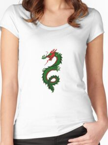 Chinese Dragon Lizard Creature Women's Fitted Scoop T-Shirt