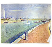 Georges Seurat The Channel of Gravelines, Petit Fort Philippe Poster