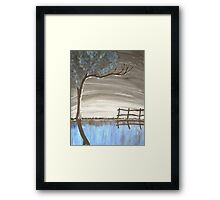 Night time reflections Framed Print