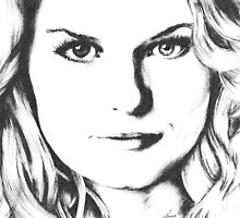 Emma Swan Black and White by Sophie Brown