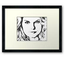 Emma Swan Black and White Framed Print