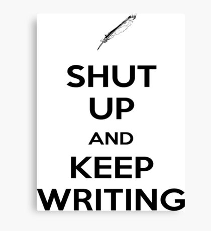 Keep Writing #1 Canvas Print