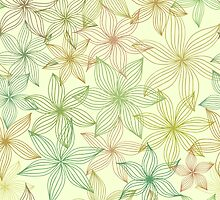 Seamless pattern with stylized flowers by vkulieva