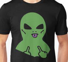 Middle Finger Alien  Unisex T-Shirt