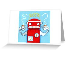 Welcome to the Robo Cafe Greeting Card
