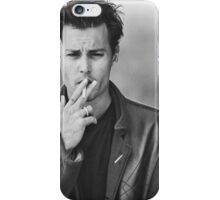 Johnny Depp- black and white iPhone Case/Skin