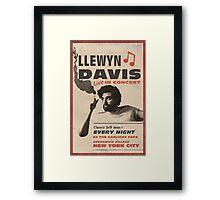 Llewyn Davis Live in Concert Framed Print