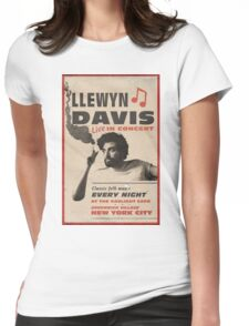 Llewyn Davis Live in Concert Womens Fitted T-Shirt