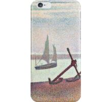Georges Seurat The Channel at Gravelines, Evening iPhone Case/Skin
