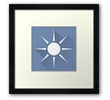 The Blue Opal Framed Print
