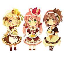 """3 Cute Chibi"" Photographic Print"