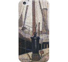 Georges Seurat The Maria at Honfleue iPhone Case/Skin