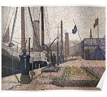 Georges Seurat The Maria at Honfleue Poster