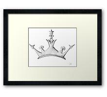 Queen's Crown - Watercolor Queen / Empress / Princess Crown Design Framed Print