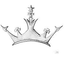 Queen's Crown - Watercolor Queen / Empress / Princess Crown Design Photographic Print