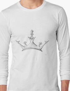 Queen's Crown - Watercolor Queen / Empress / Princess Crown Design Long Sleeve T-Shirt
