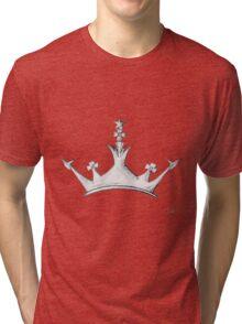 Queen's Crown - Watercolor Queen / Empress / Princess Crown Design Tri-blend T-Shirt