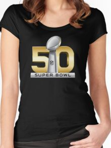 Super Bowl 50 - February 7th, 2016 Women's Fitted Scoop T-Shirt