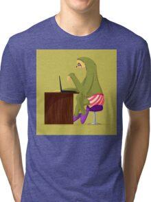 Angry sloth Tri-blend T-Shirt