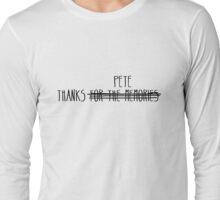 Fall Out Boy Thanks Pete Long Sleeve T-Shirt