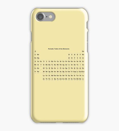 Periodic table of the elements iPhone Case/Skin