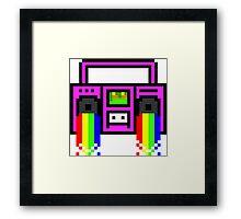 8 Bit Boom Framed Print