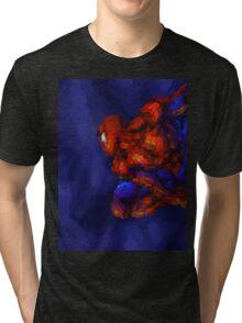 Spiderman Abstract Watercolour Super Hero Tri-blend T-Shirt
