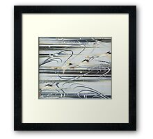 Diving Cranes  Framed Print