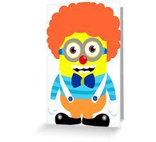 Minion circus clown Greeting Card