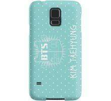 BTS V - White hearts & Blue  Samsung Galaxy Case/Skin