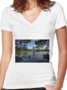 Ross Castle Women's Fitted V-Neck T-Shirt