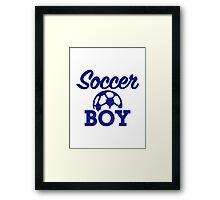 Soccer boy Framed Print