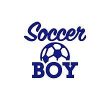 Soccer boy Photographic Print