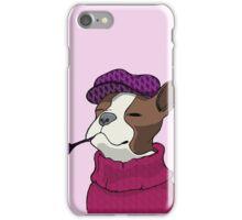 Tough Boston Terrier Girl iPhone Case/Skin