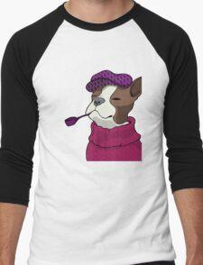 Tough Boston Terrier Girl Men's Baseball ¾ T-Shirt