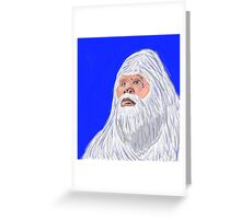 The Lonely Yeti Greeting Card
